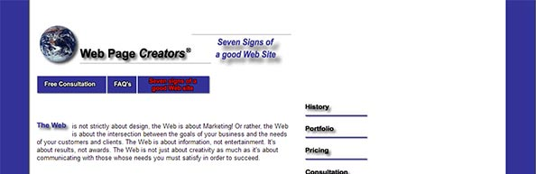 Seven signs of a bad website